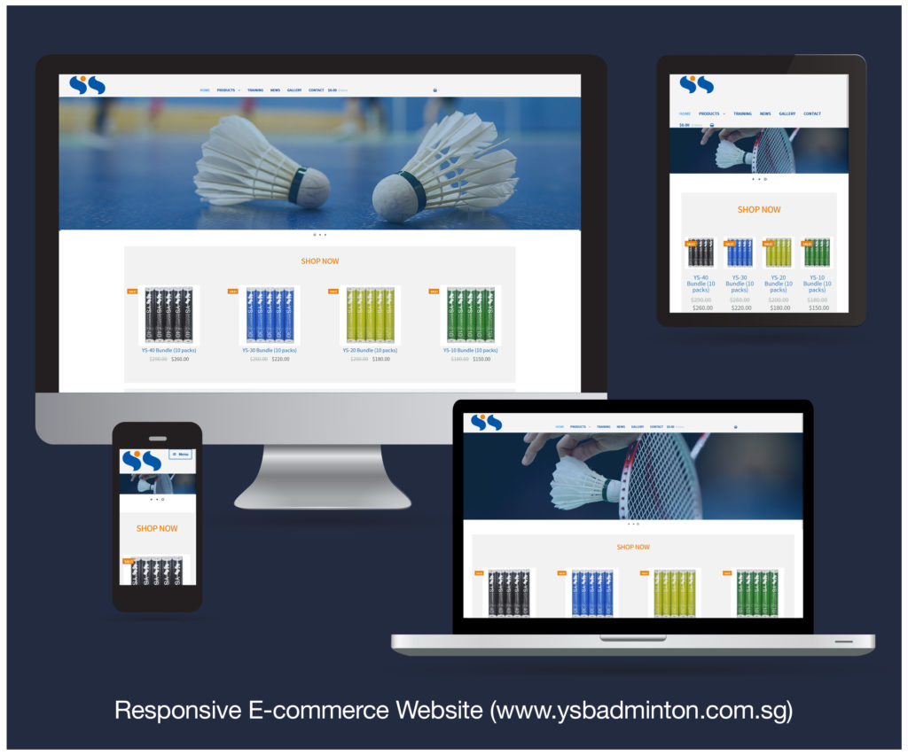 Responsive E-commerce Website designed and developed for YS SPORTS