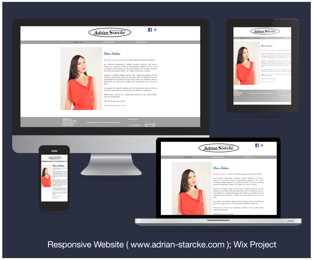 Responsive Website designed and developed for Adrian Starcke