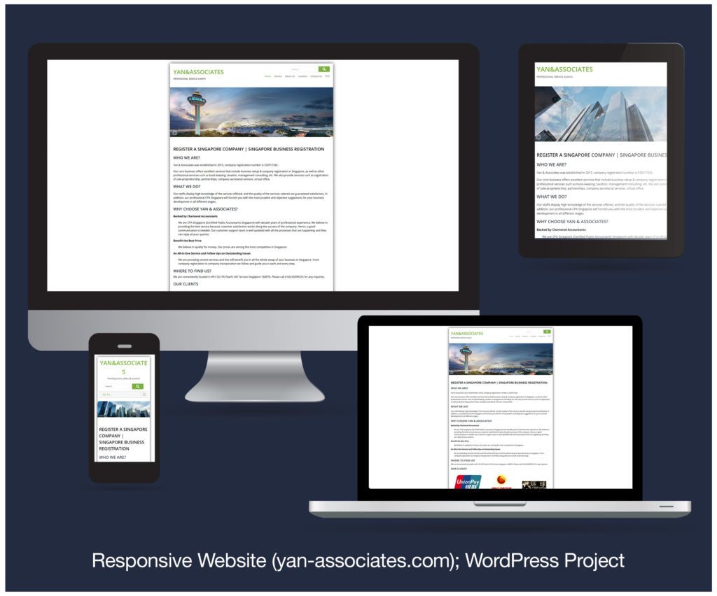 Responsive Website designed and developed for YAN&ASSOCIATES