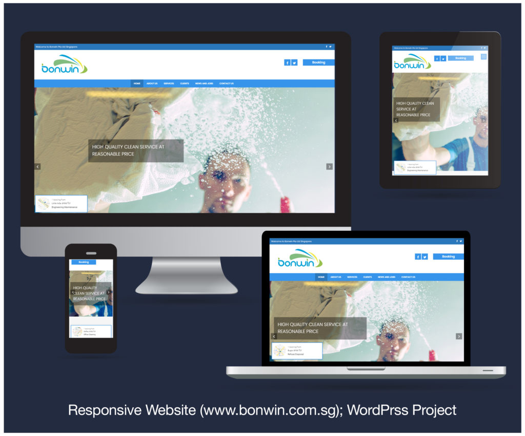 Responsive Website designed and developed for BONWIN