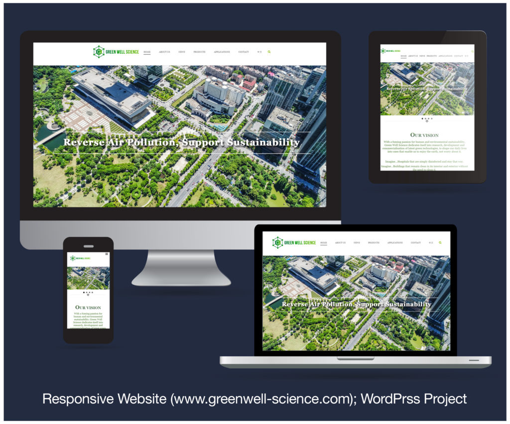 Responsive Website designed and developed for GREENWELL SCIENCE