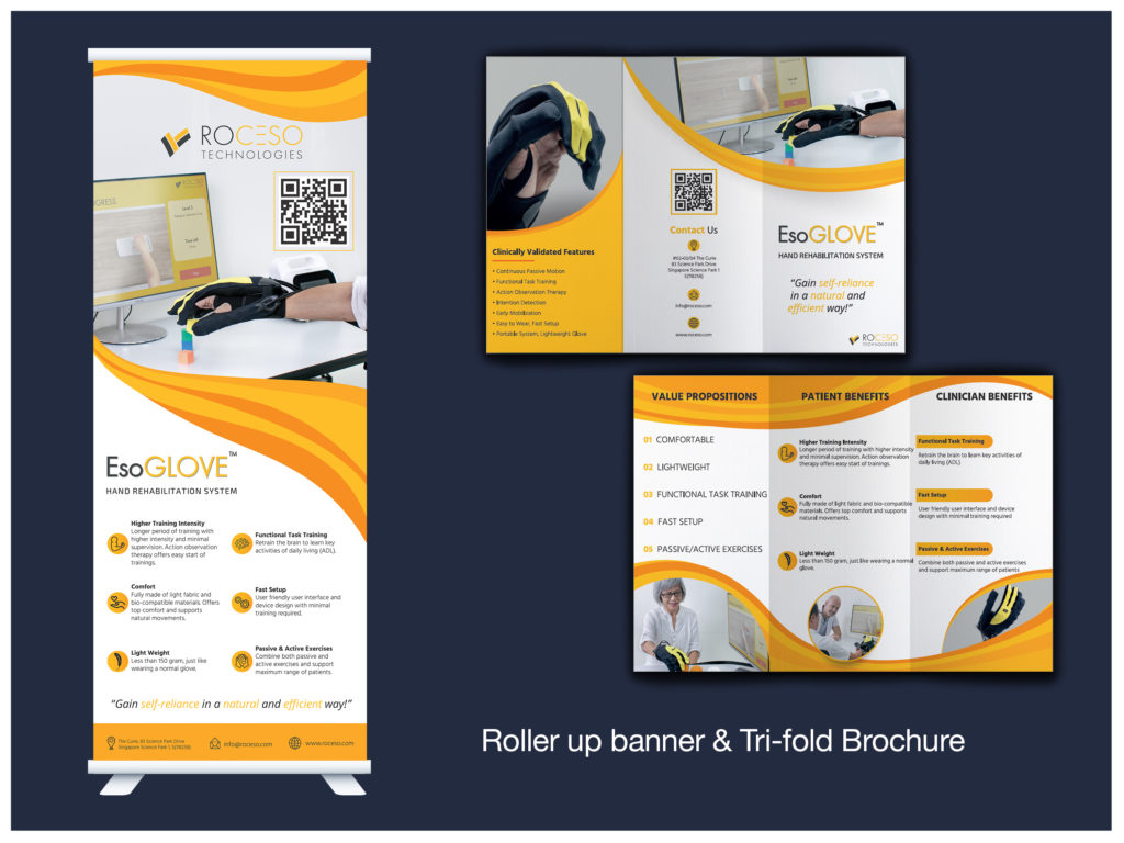 EsoGLOVE Roller-up and Tri-fold Brochure
