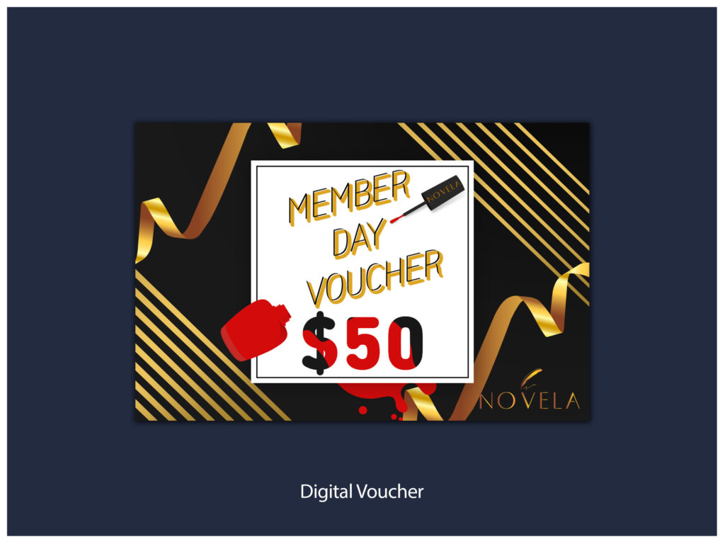 Digital Vouchers for 2018 Novela Member Day