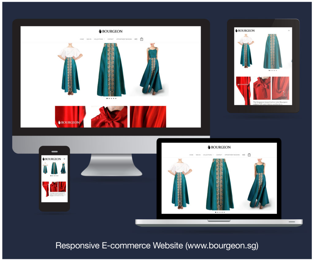 Responsive E-commerce Website designed and developed for BOURGEON