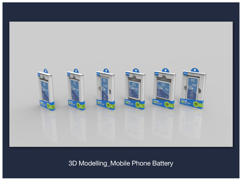 3D Modelling_Mobile Phone Battery