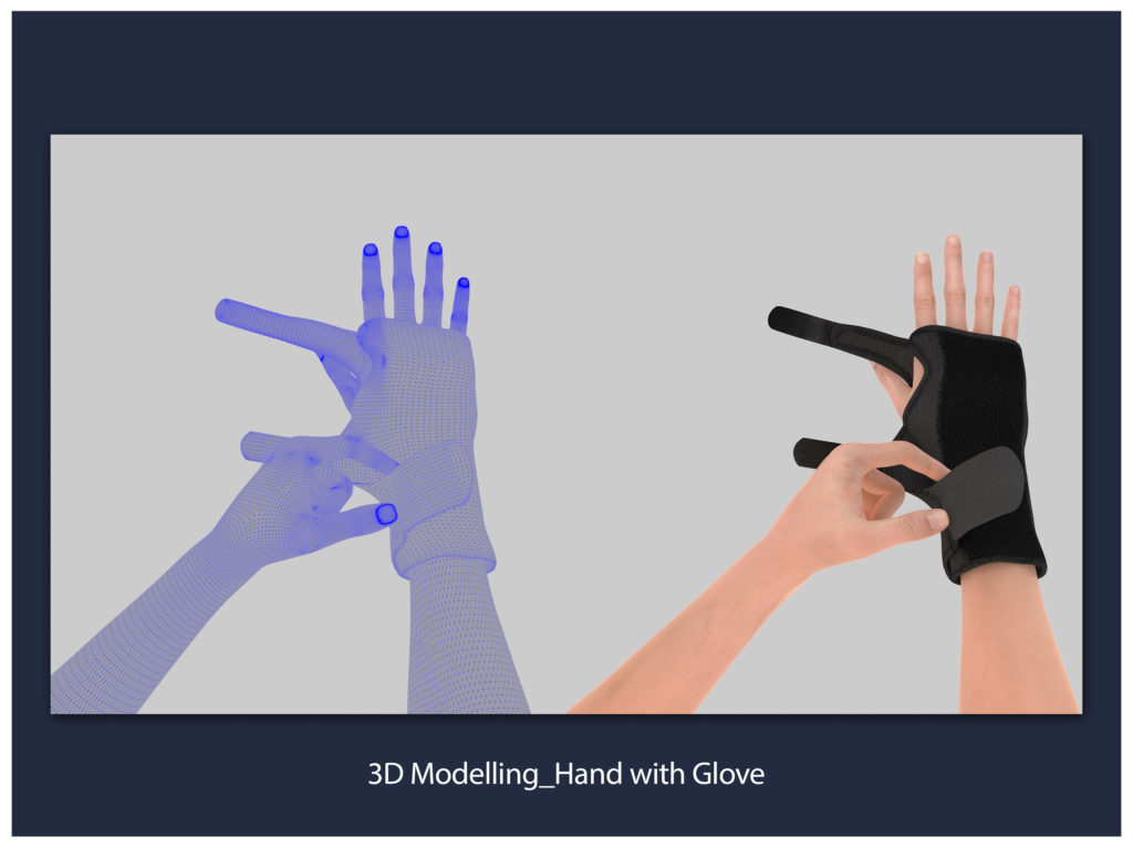 3D Modelling_Hand with Glove
