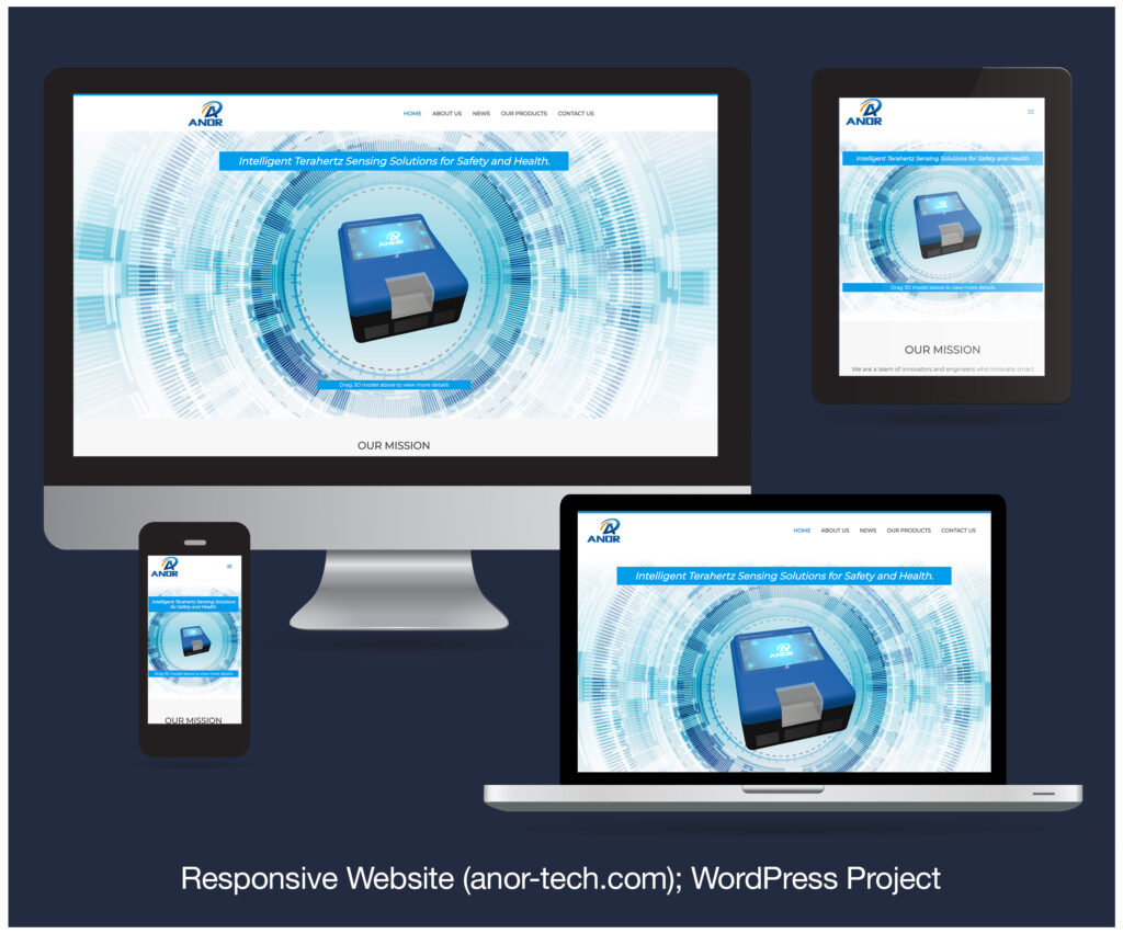 Responsive Website designed and developed for ANOR Technologies