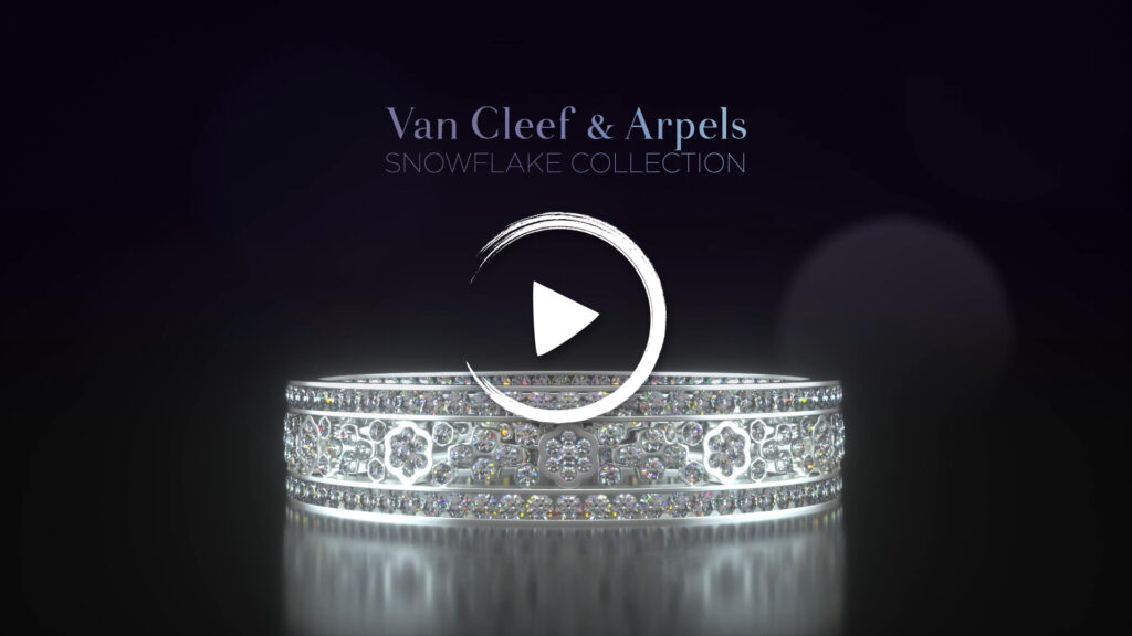 Read more about the article 3d Animation for Van Cleef & Arpels's Snowflake Diamond Ring (52″)